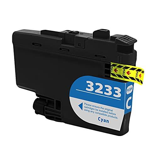 SXCD LC3233 - Cartuchos de tinta para Brother DCP-J1100DW MFC-J1300DW Cartucho de impresora de inyección de tinta de alto rendimiento compatible con 4 colores (BK Y M C) cian