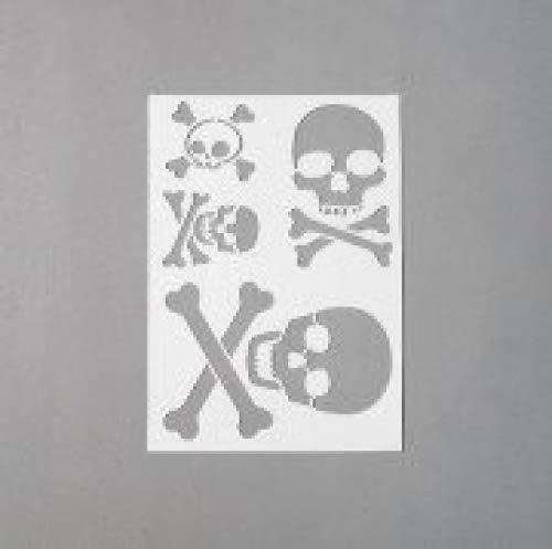 efco Schablone Totenkopf/4Designs DIN, Kunststoff, transparent, A 5