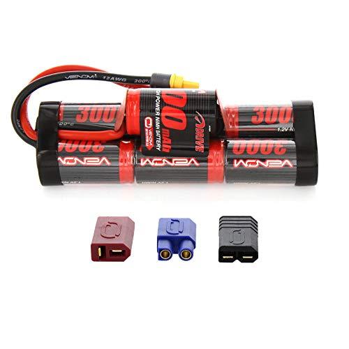 Venom 8.4V 3000mAh 7-Cell Hump Pack NiMH Battery with Universal Plug (EC3/Deans/Traxxas/Tamiya)