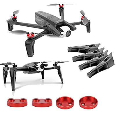 Kismaple Anafi Accessories 2 Set - Motor Cap Cover Protector + Landing Gear Legs Extender Increase for Parrot Aanfi Drone