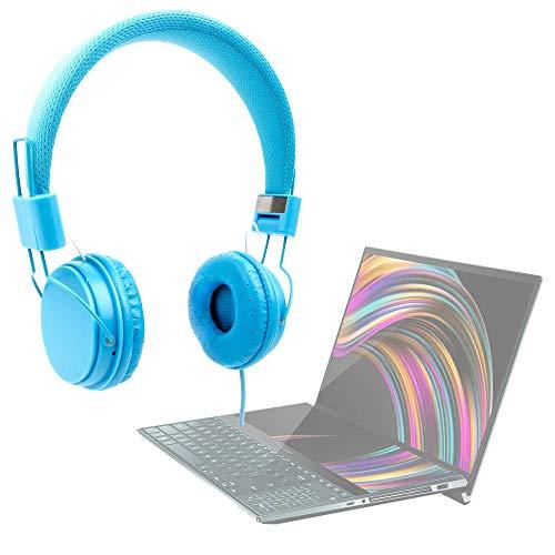 DURAGADGET Auriculares De Diadema Color Azul Compatible con Portátil ASUS ZENBOOK Pro Duo (UX581), ASUS ROG Zephyrus S GX701