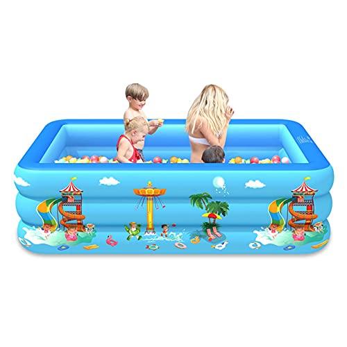 FOTBIMK Kleiner rechteckiger aufblasbarer Pool für Kinder Baby-Schwimmbad Tragbares Kinderplanschbecken