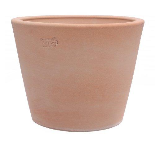 Hentschke Keramik Pflanztopf/Pflanzkübel frostsicher Ø 30 x 26 cm, terrakotta, 342.030.53 Blumenkübel für Draußen + Innen - Made in Germany