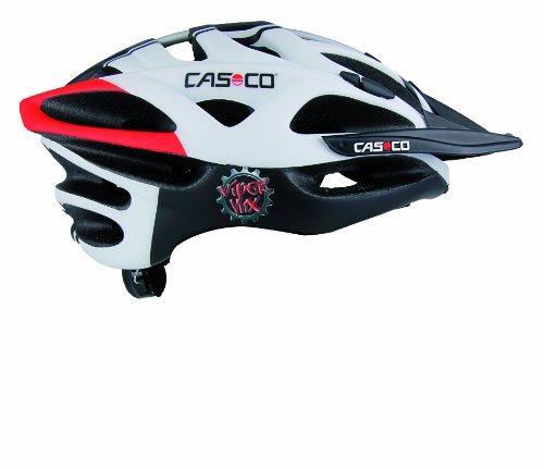 Casco CAS168 - Casco da ciclismo unisex adulto, colore: nero bianco rosso