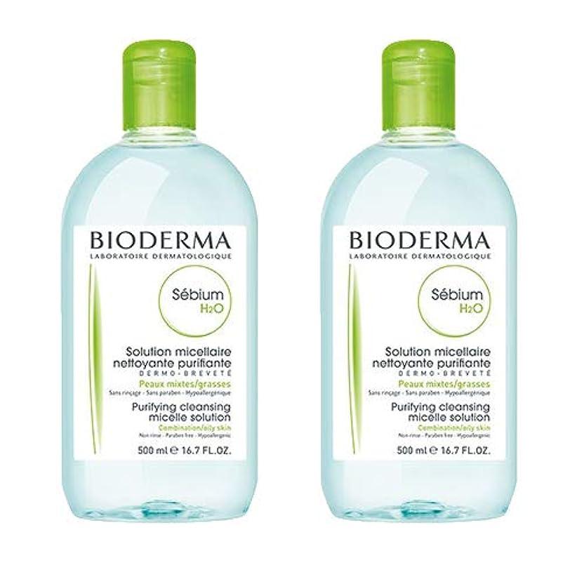 有益な品フォルダビオデルマ(BIODERMA) セビウム H2O(エイチ ツーオー)D 500ml×2本セット[並行輸入品]