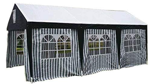 TrendLine Großraumzelt 3 x 6 m grün-weiß Gartenzelt Festzelt Partyzelt Bierzelt