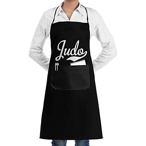 Niet van toepassing Bib Schort Judo Is Mijn Passie 1 Verstelbare Bib Schort Duurzame Bbq Koken Mode Met Zakken Chef Keuken Schorten Tuinieren Bakken Crafting Vrouwen Mannen Unisex Print Pretty