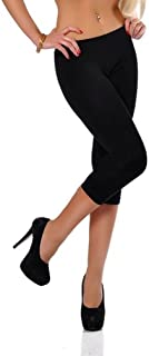 Dykmod Leggins 3/4 Capri Plus para mujer, talla 50, 52, 54, 56