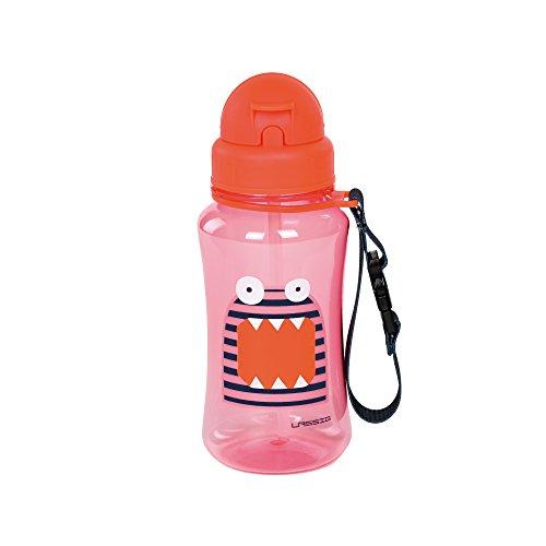 LÄSSIG Kinder Trinkflasche mit Strohhalm Auslaufsicher Kunststoff Tritan/Drinking Bottle Little Monsters Mad Mabel