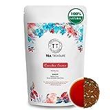 TeaTreasure Rooibos Temptation Red Tea - 100 Gm - Caffeine Free Antioxidants Rich