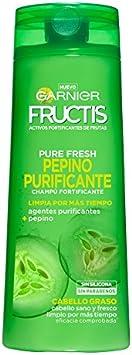 Garnier Fructis Champú Pure Fresh Pepino Purificante - 360 ml