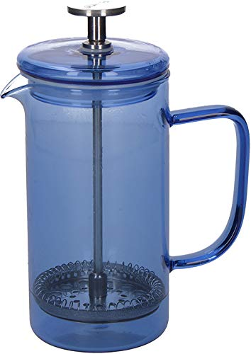 La Cafetière Core Cafetière à piston en verre borosilicate, Verre borosilicate, Bleu, 3 Tasses (350 ml)