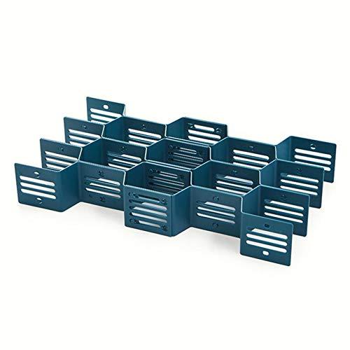 Weisin Organizador del cajón del Panal, Caja de Almacenamiento del hogar con el Compartimiento para el apartamento,Azul Marino