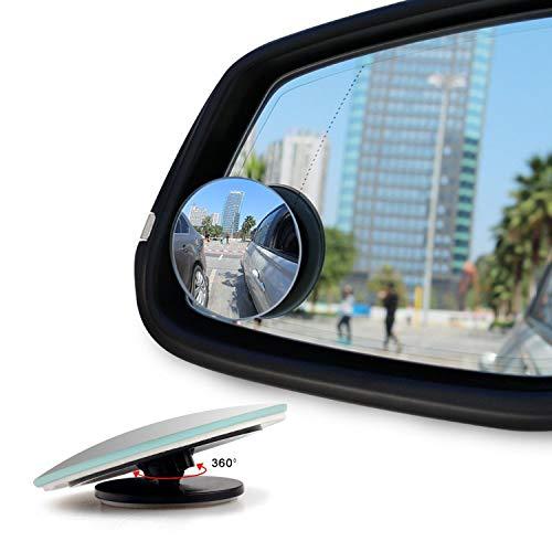 Toter-Winkel-Spiegel, rund, Weitwinkelspiegel zum Aufkleben auf den Seitenspiegel, 2 Stück