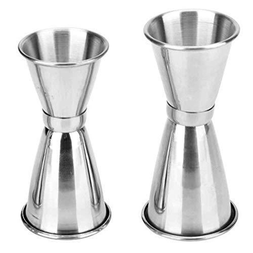 Misurino per Cocktail 25ml/35ml/45ml Misurino Doppio per Cocktail in Acciaio Inossidabile Misurino per Bevande Misurino per Bar per barista a casa, bar party(2PCS)