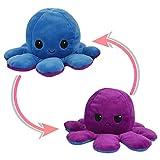 Suny Smiling Reversible Octopus Soft Toys, doppelseitiges Flip Octopus Plüschtier, niedliche Mini Octopus Kuscheltiere Puppe Kreative Spielzeuggeschenke für Kinder / Mädchen / Jungen / Liebhaber