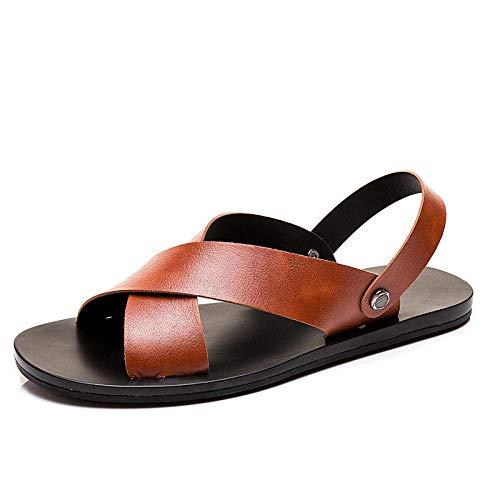 Ballyzess Sandalias De Vestir para Hombre Sandalias Sandalias con Punta Abierta Zapatos De Playa De Verano para Hombres De Doble Uso para Hombres Antideslizantes-38