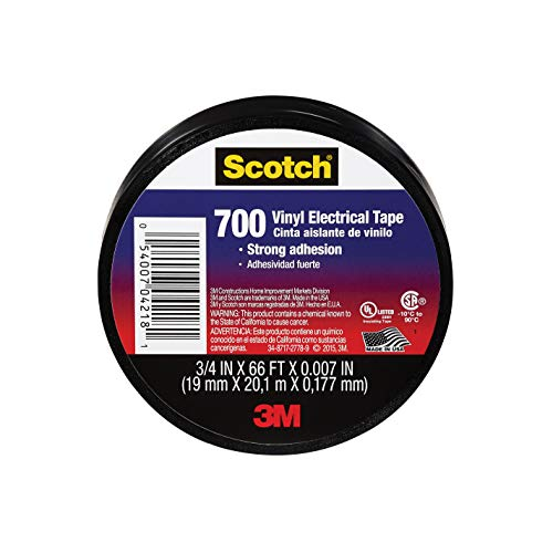 Scotch Vinyl Electrical Tape, 3/4-in by 66-ft