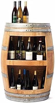 Wine Barrel Wall Cabinet, oak, Holds 20 Bottles Of Wine By Wine Barrel Creations