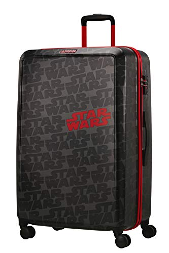 American Tourister Funlight Disney - Disney Valigie & Trolleys, L (77 cm - 98.5 L), Grigio (Star Wars Logo)