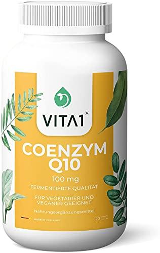 VITA1 Coenzyme Q10 100 mg • Puissant Antioxydant et protection cellulaire • 120 capsules (alimentation pour 4 mois) Fabriqué en Allemagne