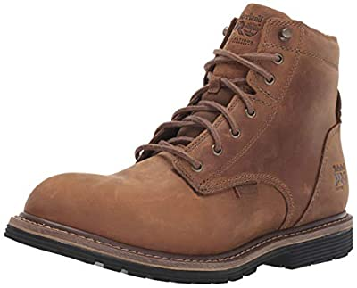 """Timberland PRO Men's Millworks 6"""" Soft Toe Waterproof Industrial Boot, Brown Gaucho, 10.5 W US"""