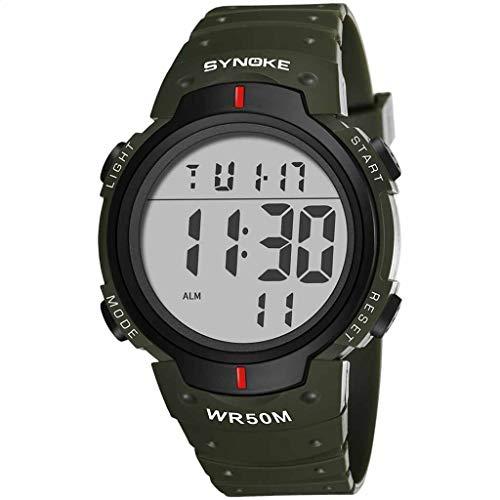 Herren Multifunktion Uhren | Luotuo Mode digital Elektronische Uhr | Bergsteigen Sport Kompass Countdown Leuchtend Alarm Wasserdicht Armbanduhr für Männer | Geschäft Freizeit Watch