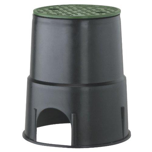 Gardena Arqueta Circular 1 vía para una válvula de riego de 24 V. Máx. Carga sobre la Tapa 400 Kg, Estándar