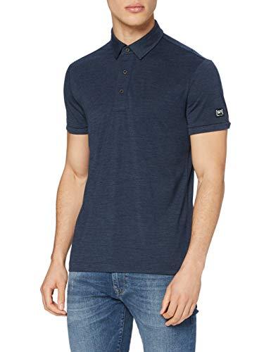 Super.Natural Polo pour Homme avec Laine mérinos Taille M Essential Polo S Bleu foncé