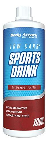 Body Attack Low Carb Sports Drink, Sportgetränkekonzentrat, Coke Cherry/Cola Kirsche, (1 x 1000ml)