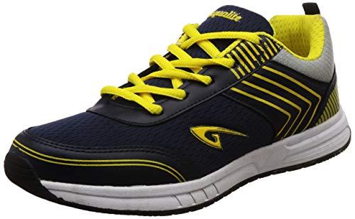 Aqualite Men's Navy Blue/Yellow Running Shoes-9 UK/India (43 EU) (SGA-03)