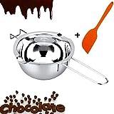 ミルクパン ボイラー シリコーンスパチュラ キッチンメルトポット ダブルボイラー インサートベーキング ツール ステンレススチール チョコレート