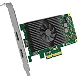 Low-profile PCIe x4 Capture HDMI + embedded audio Loop-through HDMI + embedded audio
