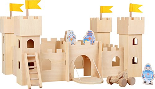 Small Foot 10026 - Castillo medieval sin tratar , color/modelo surtido