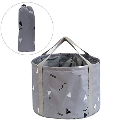 24L Collapsible Foot Bath Basin for Soaking Men Large Feet, Portable Foot Soak Tub Water Bucket for Travel Camping, Grey
