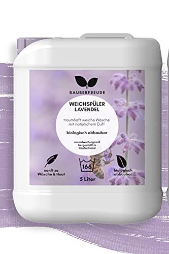 Sauberfreude veganer Weichspüler mit natürlichem lavendel Duft ökologisch, 5l biologisch abbaubar, umweltfreundlich und nachhaltig