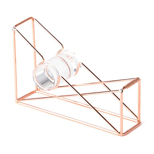 U Brands Desktop Tape Dispenser, Wire Metal, Copper/Rose Gold