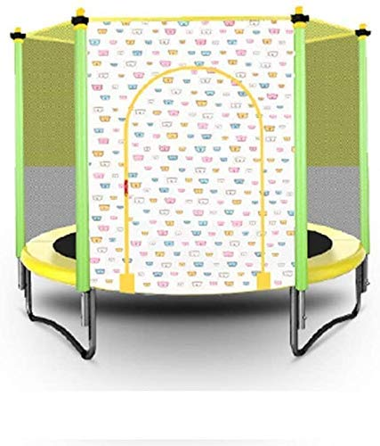 LuoMei Foldable 50 inch Small Trampoline Rebounder Max Load 300Lbs Rebounder Trampoline Exercise Jumping Fitness Trampoline for Indoor/Garden/Workout Cardioyellow