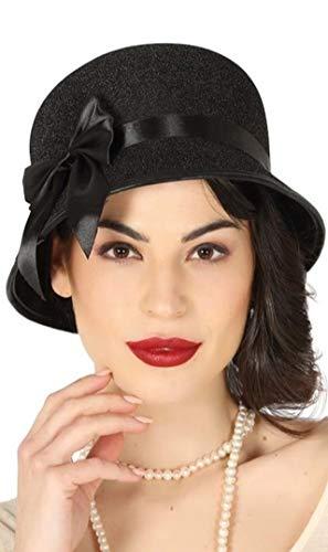 Guirca 13028 Hut schwarz Dama 20er Jahre