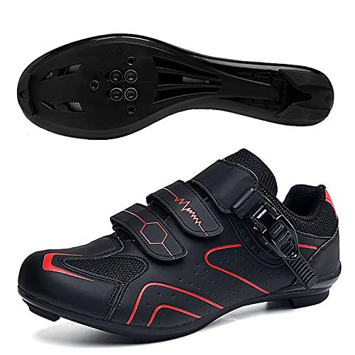 FGFDS Zapatillas De Ciclismo para Hombre Y Mujer, Correa De Hebilla Precisa Zapatillas Bicicleta Montaña Y Carretera Zapatillas Zapatillas Bicicleta MTB Compatibles con Peloton SPD/SPD-SL & Look