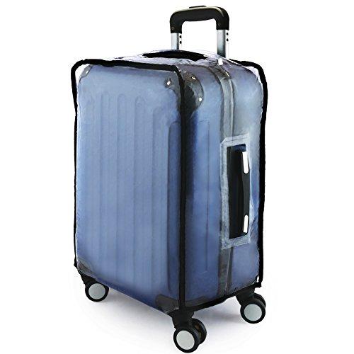 PrimeMatik Funda Impermeable Suitcase, 64 cm, 28 liters, Transparent