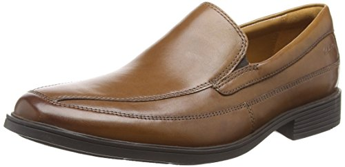 Clarks Herren Tilden Free Slipper, Braun (Dark Tan Leather), 46 EU