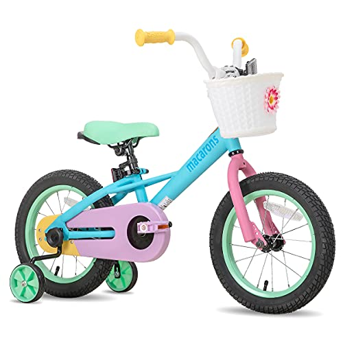 JOYSTAR 14 Inch Kids Bike for 3 4 5 Years Girls, Child Bicycle with Training Wheels for 3-5 Years Kids, 85% Assembled
