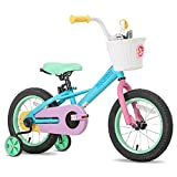 JOYSTAR 16 Inch Kids Bike for 4 5 6 7 Years Girls, Child Bicycle with Training Wheels for 4-7 Years Kids, 85% Assembled
