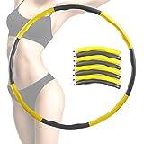 EXTSUD Hula Hoop Fitness, Aros de Fitness para Adulto y Niños, Desmontable con Espuma, Ancho Ajustable