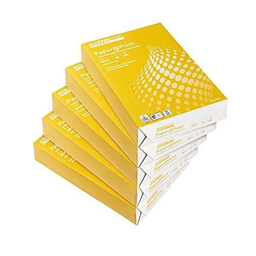 SCHÄFER SHOP Druckerpapier A4 – Kopierpapier Faxpapier Inkjetpapier - Papier 80g/m² - 2500 Blatt, weiß