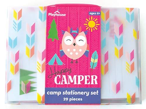 Playhouse 28-teiliges Happy Camper Schreibwaren-Set mit Stift und Aufklebern für Kinder