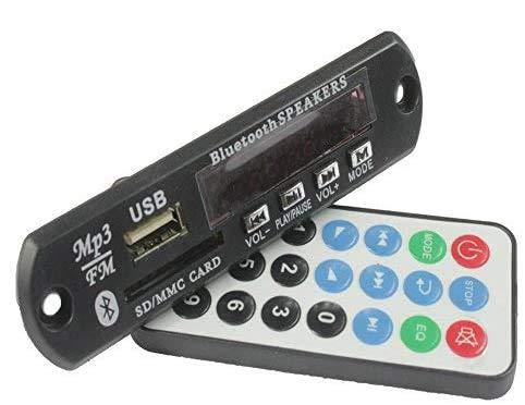Bluetooth Audio Module MP3 WMA Player MP3 decoder with Board Module w/SD Card Slot/USB 2.0 Port/FM/Remote Display (7-12V)