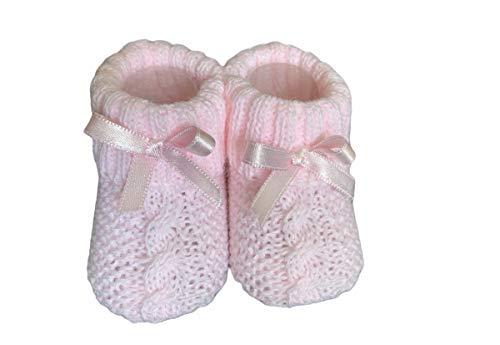 Dor Calcetines Bebé Niñas 0-6 Meses - Trenzado - en Caja Regalo Calcetines con Lazo para Bebé Recién Nacidos Niñas Pequeñas (Rosa)