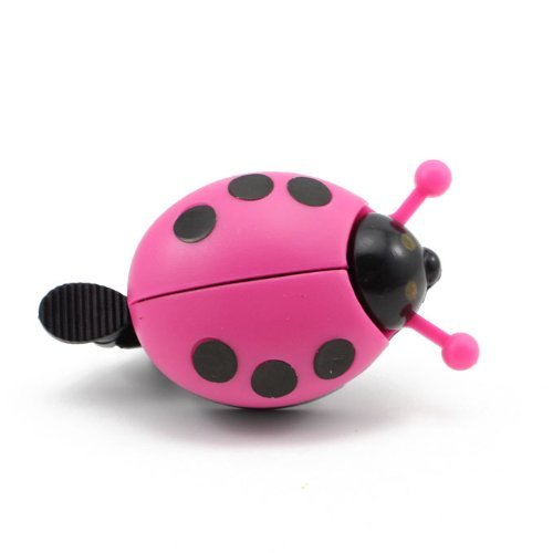 Generic Kid Funny Ladybug Cycling Ride Bike Ring Bell(Hot Pink) by Generic